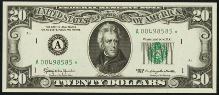 1969C $20 Federal Reserve Note Value – How much is 1969C $20 Bill Worth?