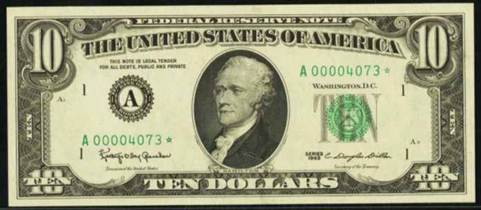 1985 $10 Federal Reserve Note Value – How much is 1985 $10 Bill Worth?