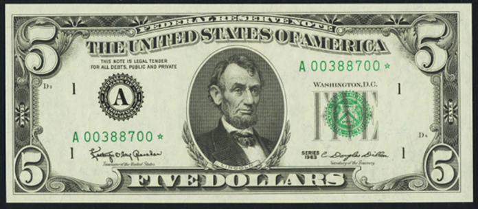 1988 $5 Federal Reserve Note Value – How much is 1988 $5 Bill Worth?
