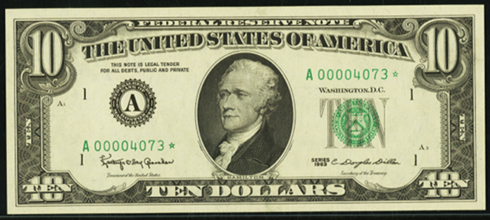 1990 $10 Federal Reserve Note Value – How much is 1990 $10 Bill Worth?