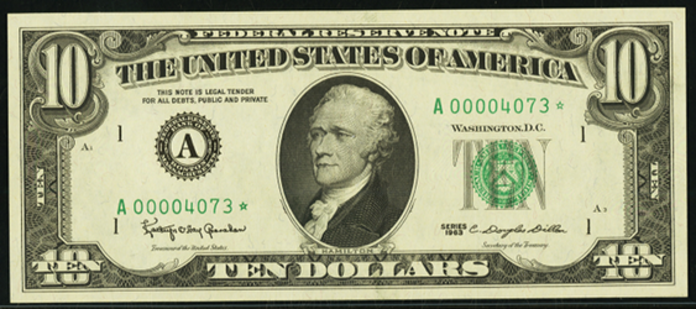 1993 $10 Federal Reserve Note Value – How much is 1993 $10 Bill Worth?