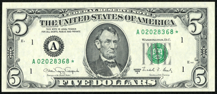 1995 $5 Federal Reserve Note Value – How much is 1995 $5 Bill Worth?