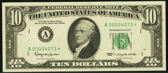 1995 $10 Federal Reserve Note Value – How much is 1995 $10 Bill Worth?