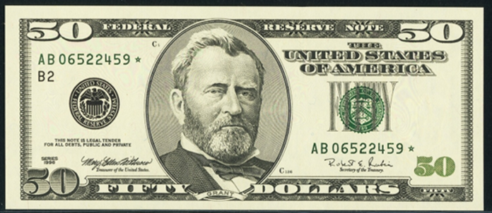 1996 $50 Federal Reserve Note Value – How much is 1996 $50 Bill Worth?