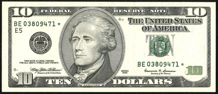1999 $10 Federal Reserve Note Value – How much is 1999 $10 Bill Worth?