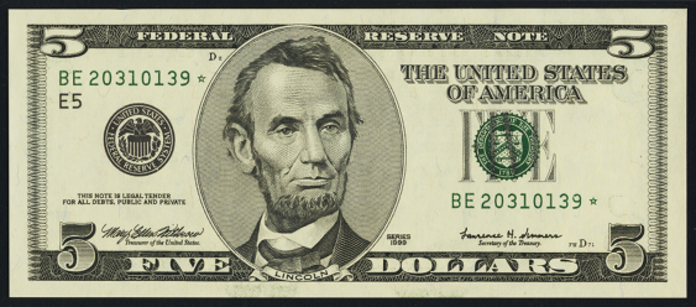 2001 $5 Federal Reserve Note Value – How much is 2001 $5 Bill Worth?