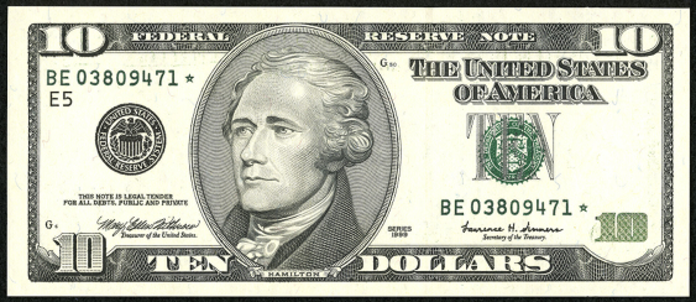2001 $10 Federal Reserve Note Value – How much is 2001 $10 Bill Worth?