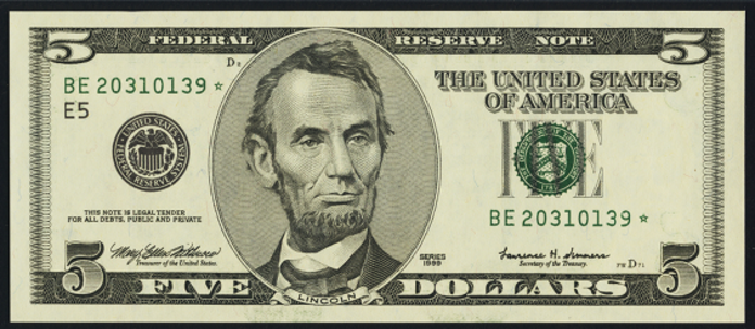 2003A $5 Federal Reserve Note Value – How much is 2003A $5 Bill Worth?