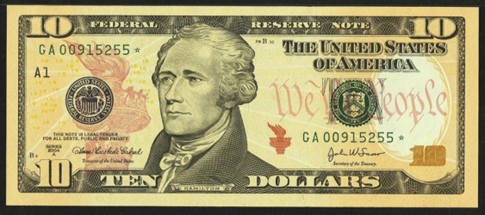 2004A $10 Federal Reserve Note Value – How much is 2004A $10 Bill Worth?