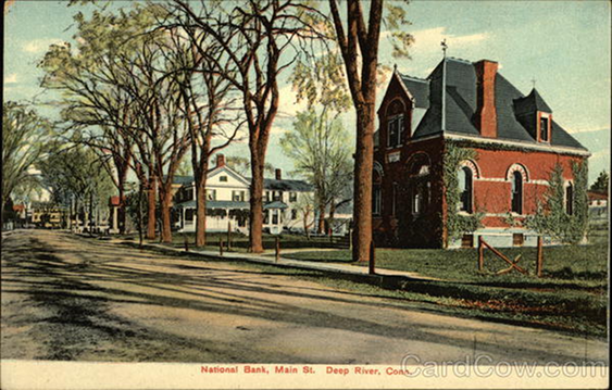 Deep River National Bank Original Building, from postcard.